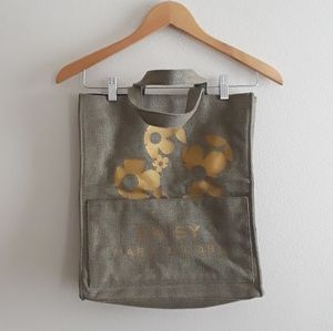 Daisy Marc Jacobs Gold Canvas Tote Bag